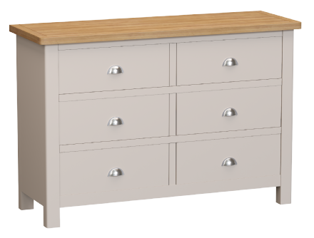 Richmond Painted Oak 6 Drawer Chest